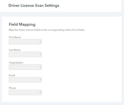 Map Driver License Data